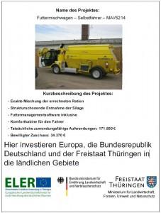 Förderung Futtermischwagen AG Koenigshofen
